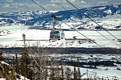 Photograph - Bridger Gondola White Car by Adam Jewell