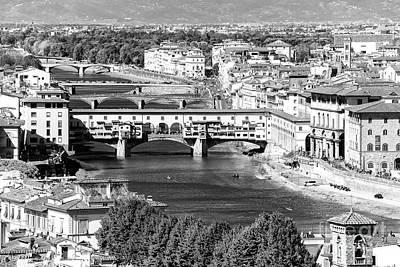 Photograph - Bridges Of Florence by John Rizzuto