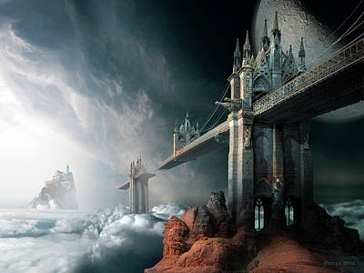 Surrealism Digital Art - Bridges to the Neverland by George Grie