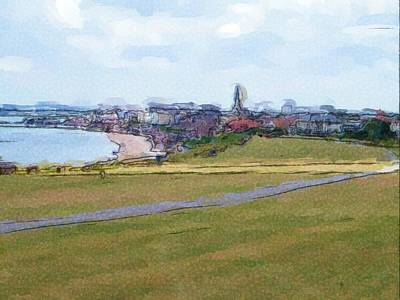 Digital Art - Bridlington View by JLowPhotos