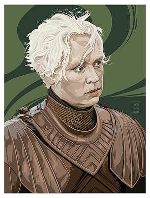 Comics Royalty-Free and Rights-Managed Images - Brienne of Tarth by Garth Glazier