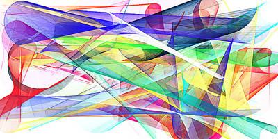 Mixed Media - Bright Abstract 2 by David Ridley