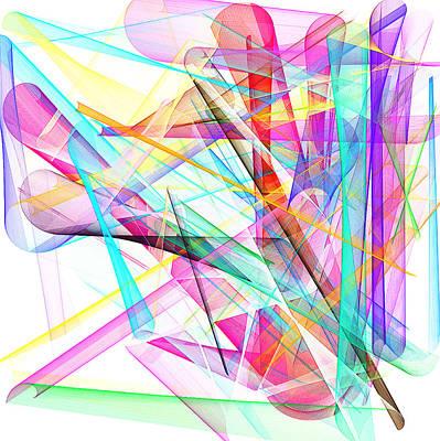 Mixed Media - Bright Abstract by David Ridley