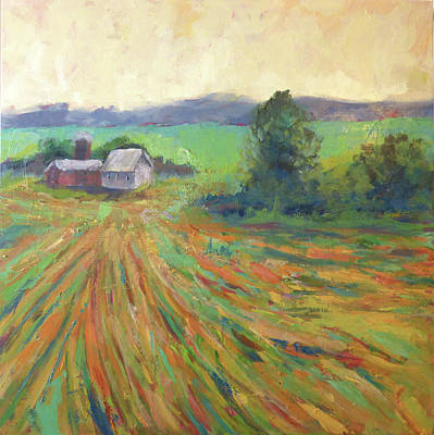 Painting - Bright Abstract Field With Mint Green by Anna Barnhart