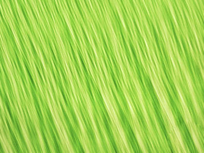 Photograph - Bright Chartreuse Green Blurred Diagonal Lines Abstract by Teri Virbickis
