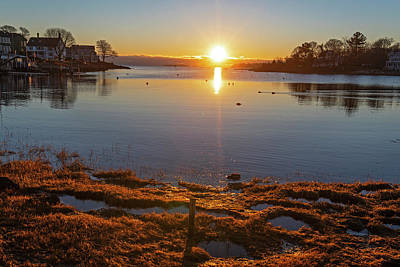 Photograph - Bright Juniper Cove Sunrise Salem Ma by Toby McGuire