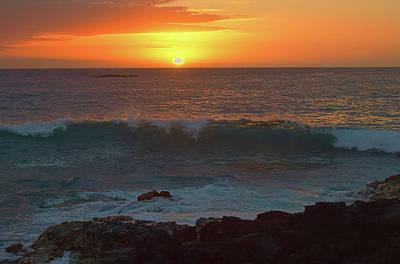 Photograph - Bright Orange Sunset by Pamela Walton