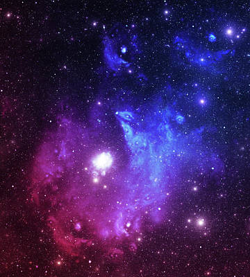 Photograph - Bright Space Stars by Sololos