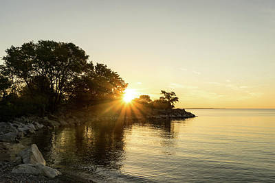 Photograph - Bright Sunshiny Day - Summer Sunrise On Lake Ontario by Georgia Mizuleva