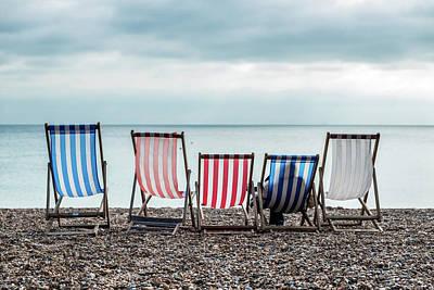 Photograph - Brighton Beach Chairs by Ian Robert Knight