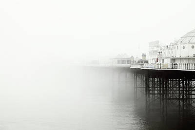 Photograph - Brighton Pier In The Fog by Jesper Mattias