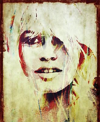 Digital Art - Brigitte Anne-marie Bardot by Jayime Jean
