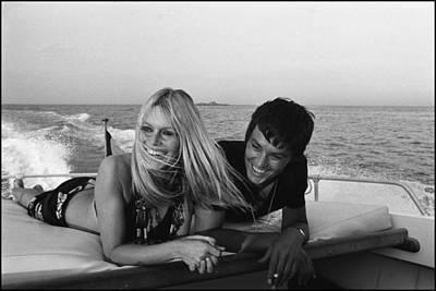 Singer Photograph - Brigitte Bardot In Saint Tropez, France by Jean-pierre Bonnotte