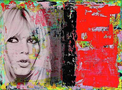 Mixed Media - Brigitte Bardot by Jayime Jean