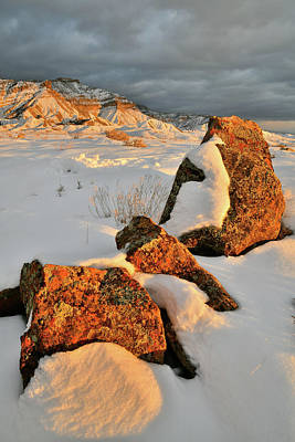 Photograph - Brilliant Boulders And Book Cliffs At Sunset by Ray Mathis