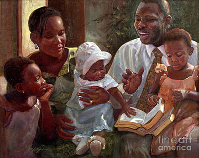 Painting - Bring Up Your Children In Light And Truth by GayLynn Ribeira