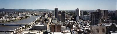 Landmarks Painting Royalty Free Images - Brisbane  1984 Royalty-Free Image by Celestial Images