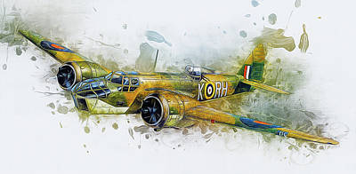 Mixed Media - Bristol Blenheim Bomber by Ian Mitchell