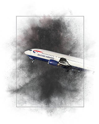Mixed Media - British Airways Boeing 737-400 Painting by Smart Aviation