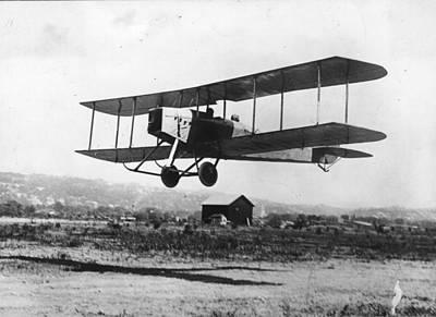 British Bi-plane Art Print by Hulton Archive