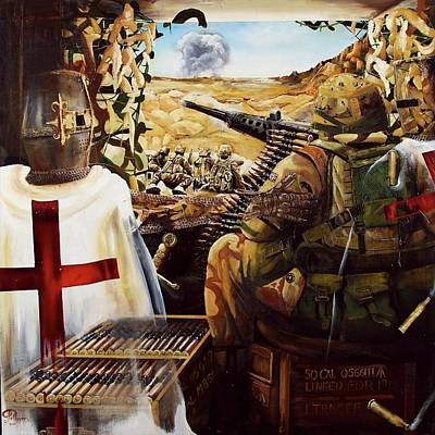 Painting - British crusader by John Palliser