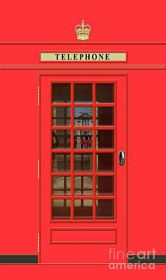 Royalty-Free and Rights-Managed Images - British Red Phone Box with Buckingham Palace by John Edwards