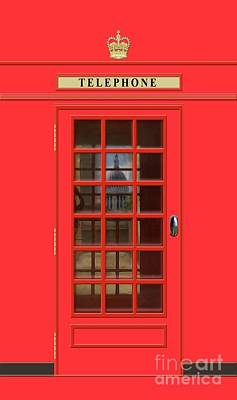Royalty-Free and Rights-Managed Images - British Red Phone Box with St Pauls by John Edwards