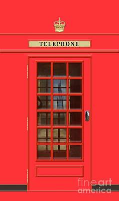 Royalty-Free and Rights-Managed Images - British Red Phone Box with The Shard by John Edwards