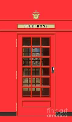 Tower Of London Wall Art - Mixed Media - British Red Phone Box With The Tower Of London by John Edwards