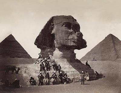 Photograph - British Soldiers At The Sphinx by Bettmann