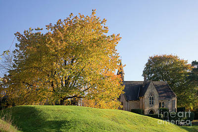 Photograph - Broad Campden Cotswolds In Autumn by Tim Gainey