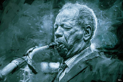 Jazz Mixed Media Royalty Free Images - Broadway Blues, Ornette Coleman Royalty-Free Image by Mal Bray