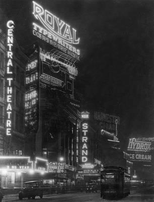Broadway Art Print by Edwin Levick