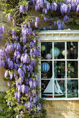 Photograph - Broadway Shop And Wisteria In The Cotswolds by Tim Gainey