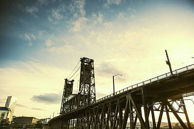 Photograph - Broadway Steel Bridge To Portland by Ryanjlane