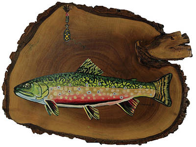 Painting - Broke Trout by Phil Chadwick