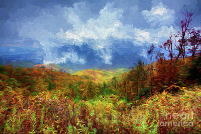 Painting - Broken Clouds Ap by Dan Carmichael