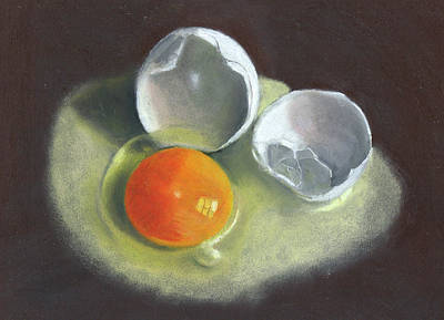 Still Life Drawings - Broken Egg Study by Joyce Geleynse