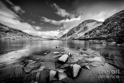 Photograph - Lake Ice Snowdonia by Adrian Evans