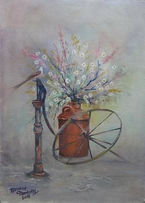 Painting - Broken Wagon Wheel  by Monique Montney