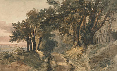 Drawing - Bromley Hill by Peter De Wint