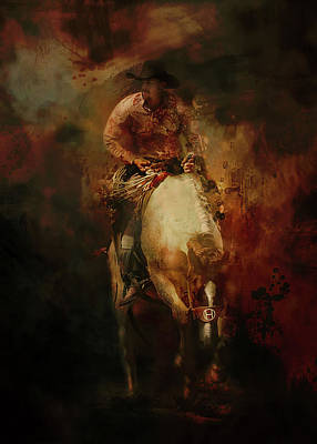 Queen Rights Managed Images - Bronco Rider Royalty-Free Image by Jeff Burgess