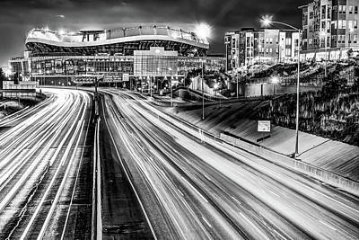 Photograph - Broncos Stadium At Mile High - Downtown Denver Monochrome by Gregory Ballos