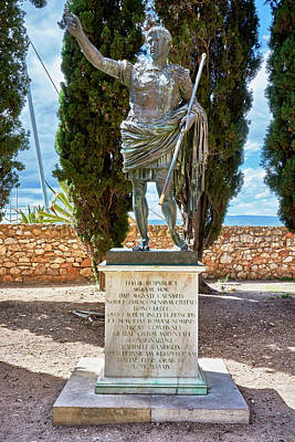 Photograph - Bronze Copy Of Augustus Of Prima Porta Sculpture In Spain by Eduardo Jose Accorinti
