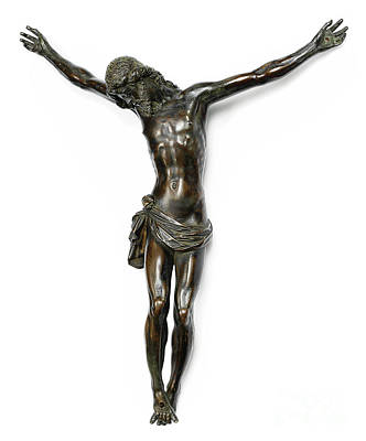 Sculpture - Bronze Crucifixion Sculpture by Giambologna known also as Jean de Boulogne