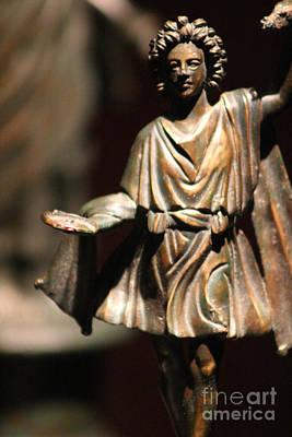Photograph - Bronze Figure 1 Century Ad Pompeii  by Colleen Cornelius
