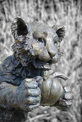 Photograph - Bronze Tiger Cub by WB Johnston