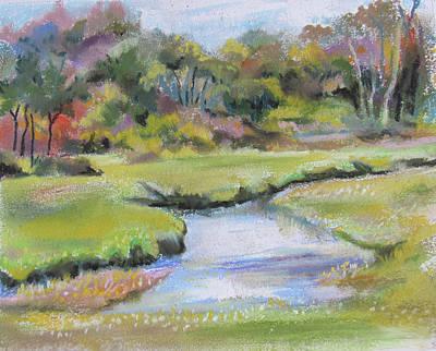 Pastel - Brook Inlet by Jean Batzell Fitzgerald