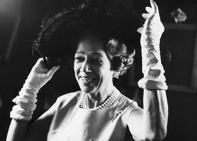 Photograph - Brooke Astor Adjusts Her Hat by Fred W. Mcdarrah