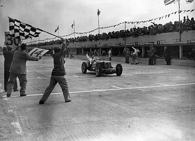 Photograph - Brooklands Finish by David Savill